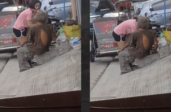 'Lady-in-Pink'-Impresses-Netizens-with-Her-Kindness-and-Generosity-to-an-Old-Beggar