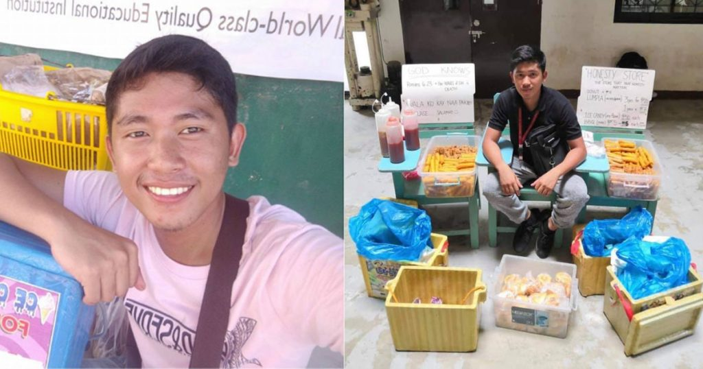 'Honesty-Store'-in-University-of-Southeastern-Philippines,-a-Hit-with-Students!